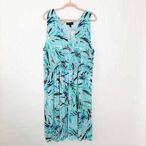 Lane Bryant Turqoise Printed Sundress 18/20 #4606